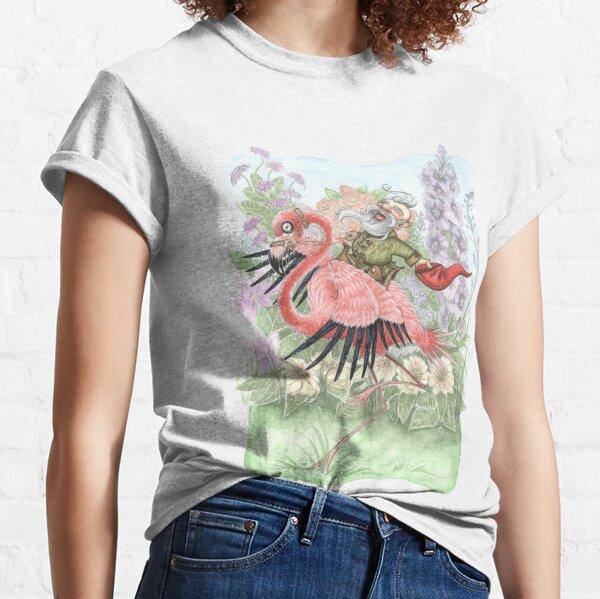 Mischievous Garden Gnome Flamingo Rider  Classic T-Shirt