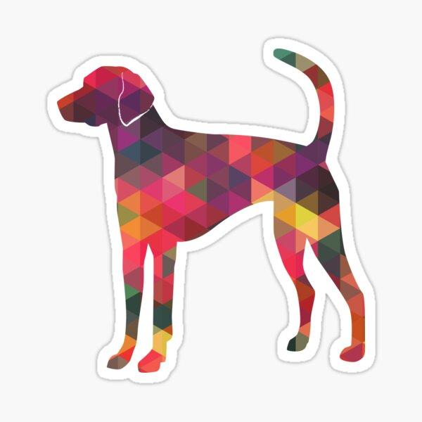 American Foxhound - Colorful Geometric Pattern Silhouette - Multi Sticker
