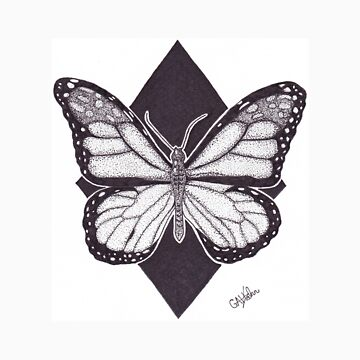 Dotwork Monarch Butterfly by accio-muse