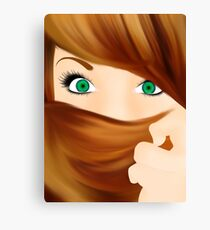 Girl with cool hair Canvas Print