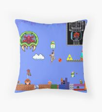 Old School Times - Set 1 of 2 Throw Pillow