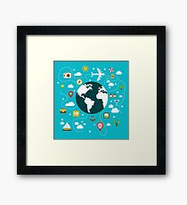 Vacation Time - Travel around the World Framed Print