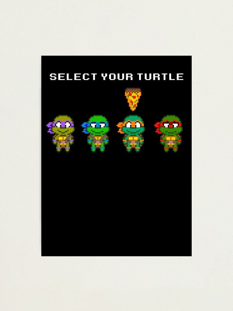 The turtle Michelangelo small print