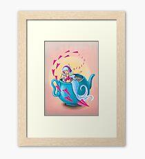 Teapot Mermaid Framed Print