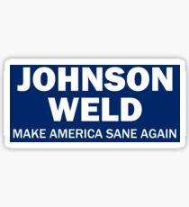 Make America Sane Again - Johnson/Weld Sticker