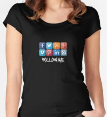 Follow Me....in Color Women's Fitted Scoop T-Shirt