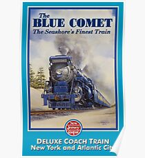 The Blue Comet Poster Poster