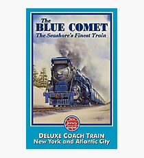 The Blue Comet Poster Photographic Print
