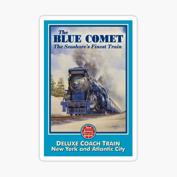 The Blue Comet Poster Sticker