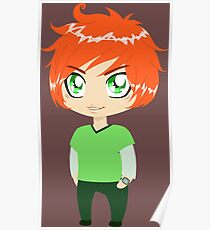 Red Headed Guy In Green Clothes Poster