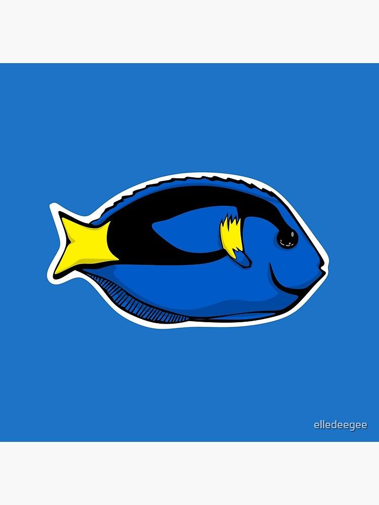 Blue Tang Illustration by elledeegee