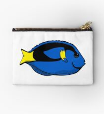 Blue Tang Illustration Zipper Pouch