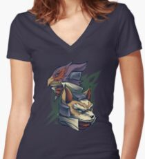 Lylat Heroes Women's Fitted V-Neck T-Shirt