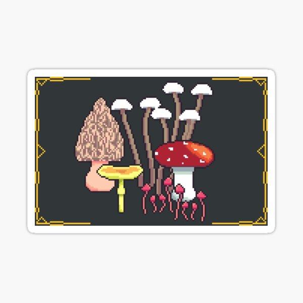 Pixel Mushrooms Sticker