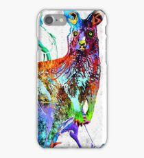 Kangaroo Grunge iPhone Case/Skin