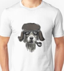 Dog with glasses Unisex T-Shirt