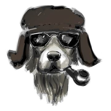 Dog with glasses by KKartist