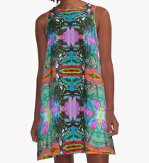 Abstract Floral Painting Paisley Type Pattern A-Line Dress