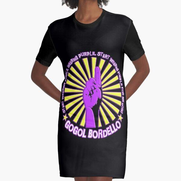 Gogol Bordello - Start Wearing Purple Graphic T-Shirt Dress