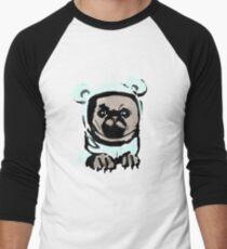 Pug in the hood Men's Baseball ¾ T-Shirt