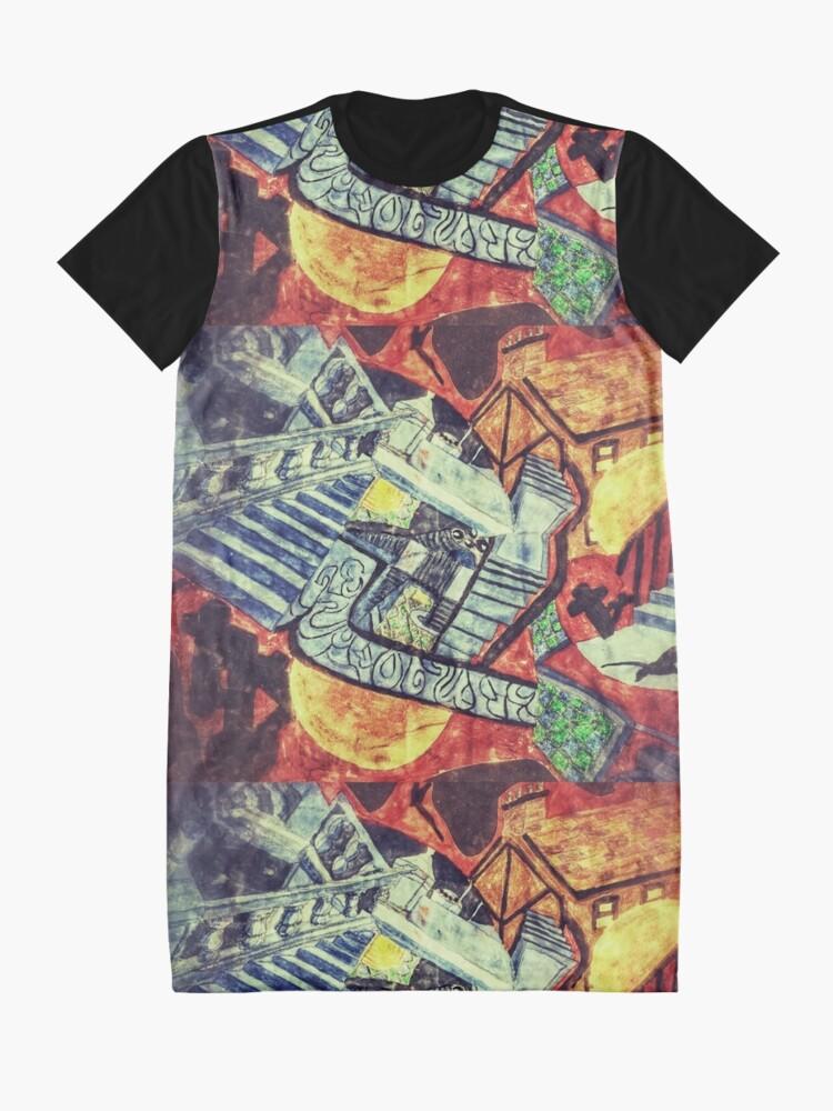 Alternate view of Darkest Dreamtime Graphic T-Shirt Dress