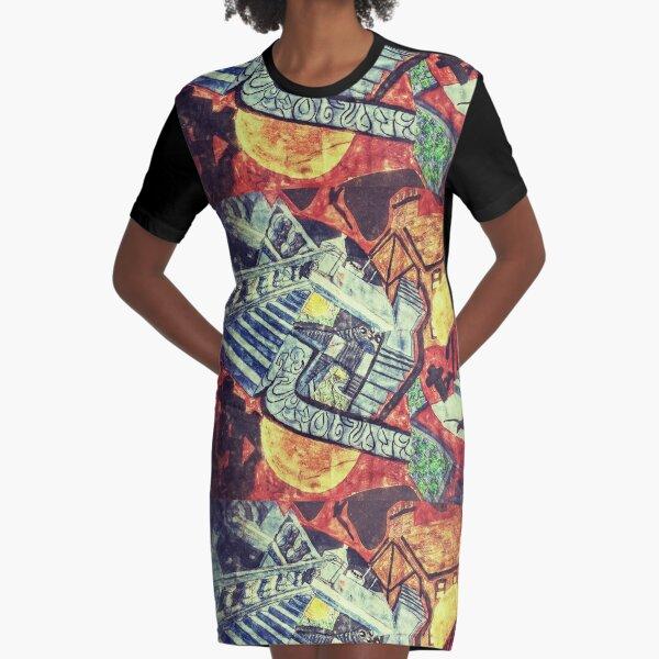 Darkest Dreamtime Graphic T-Shirt Dress
