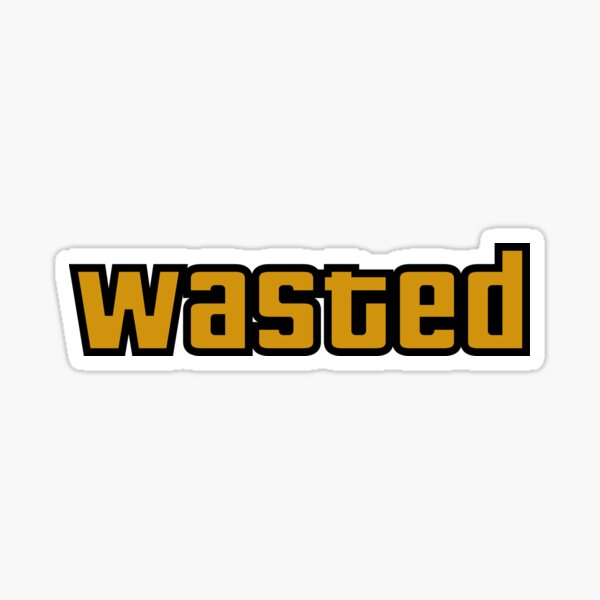 Wasted GTA Gaming Sticker
