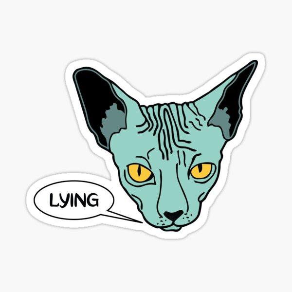 Lying Cat Sticker