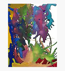 Splattered & Battered Pen & Ink Doodle Painting Brian moss Photographic Print