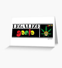 Legalize Ganja clothing and gifts by Sago Design Greeting Card