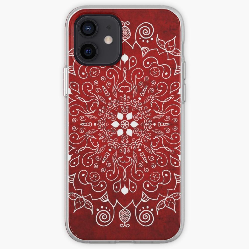 Mandala Vivid Red iPhone Case & Cover