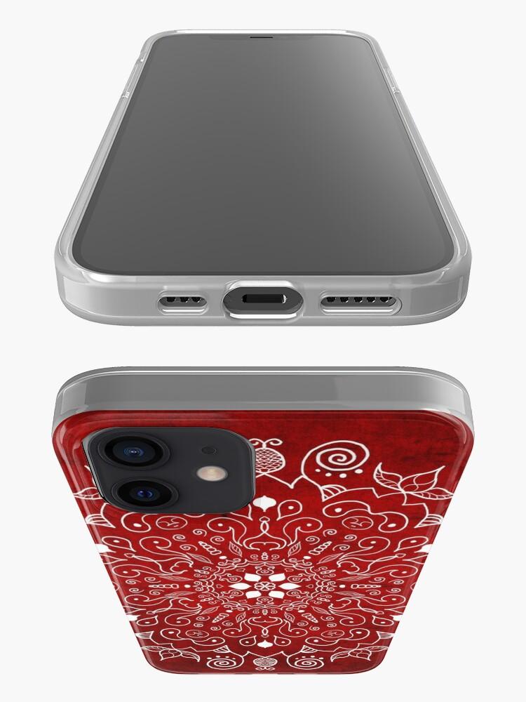 Alternate view of Mandala Vivid Red iPhone Case & Cover