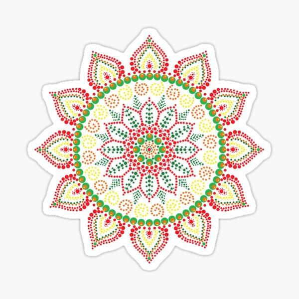 Mandala (Spring Colours) Sticker