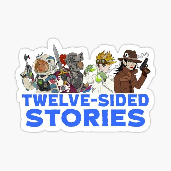 Twelve-Sided Stories Logo Sticker