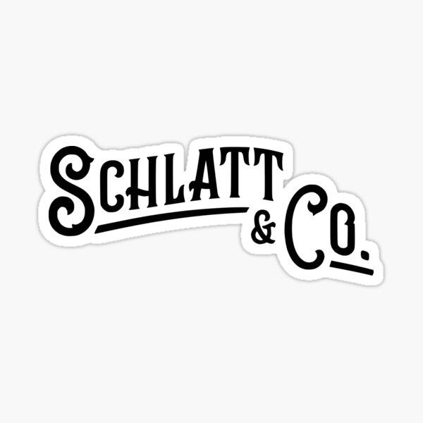 Schlatt & Co. Black Sticker