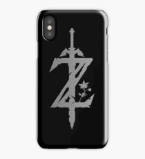 Breath Of The Wild Logo - Full Silver iPhone Case