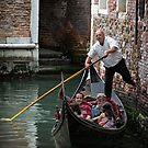 Venice Gondalier by Vicki Moritz