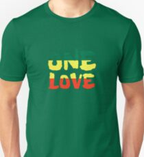 One Love Reggae Rasta Peace Weed Stoner T-Shirt