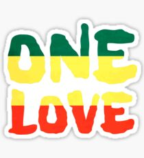 One Love Reggae Rasta Peace Weed Stoner Sticker
