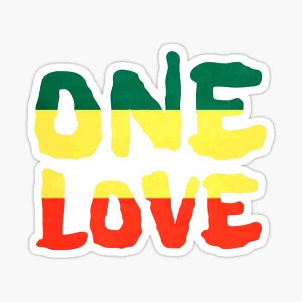 Un amour Reggae Rasta paix Weed Stoner Sticker