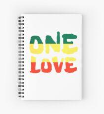 Cuaderno de espiral One Love Reggae Rasta Peace Weed Stoner