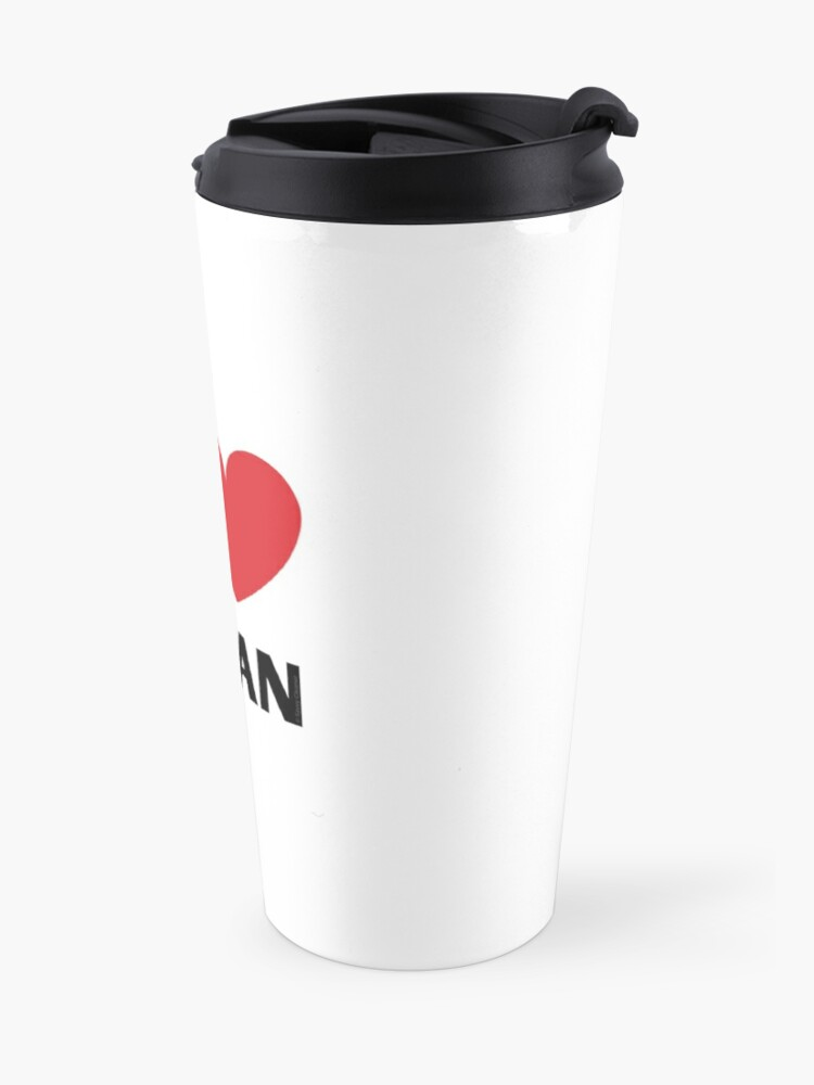 Alternate view of I Love Clean Valentine Heart Fun Cleaning Lady Gifts Travel Mug
