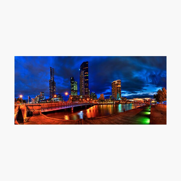 Melbourne's South Bank Panorama Photographic Print