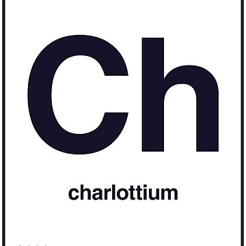 Periodic Name Table | Charlotte by unisize