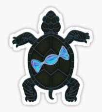 Black Turtle and Blue Candy Sticker