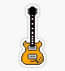 Guitar - Pixels Sticker