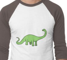 Happy Diplodocus Men's Baseball ¾ T-Shirt
