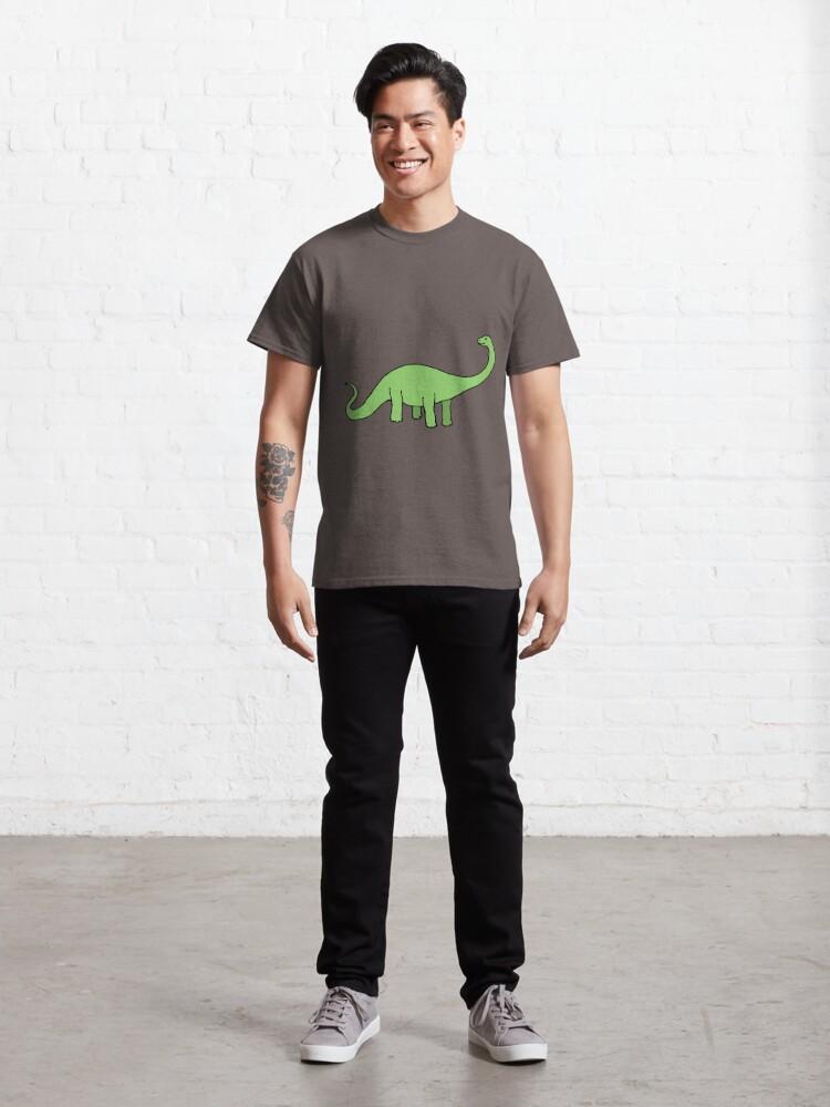 Alternate view of Happy Diplodocus - dinosaur design by Cecca Designs Classic T-Shirt