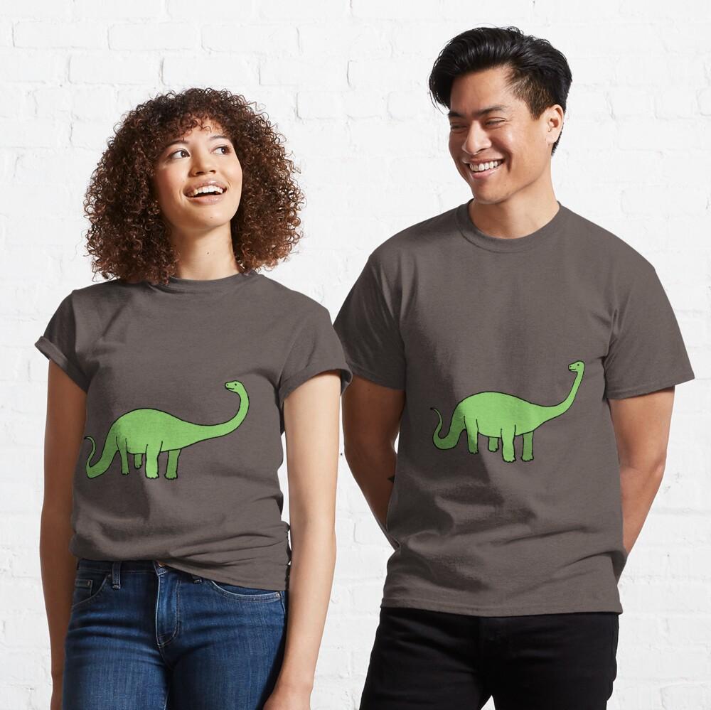 Happy Diplodocus - dinosaur design by Cecca Designs Classic T-Shirt