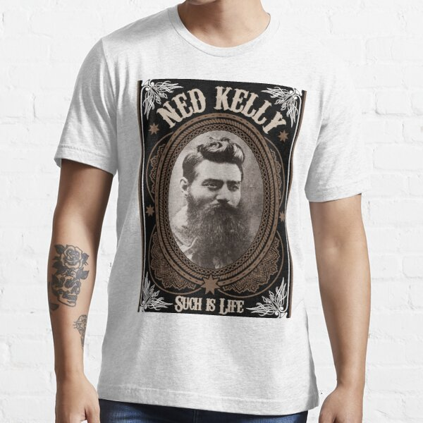 Ned Kelly - Such is Life Design in brown Essential T-Shirt